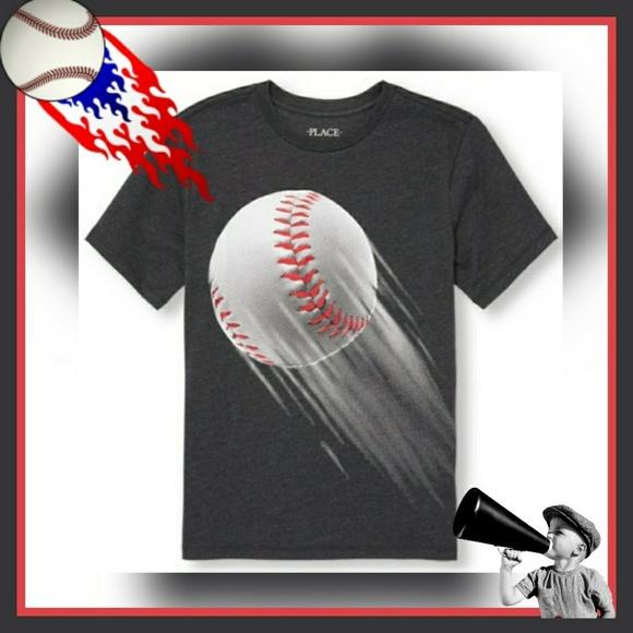 7d854a3ae4d Boys short sleeve baseball graphics tee